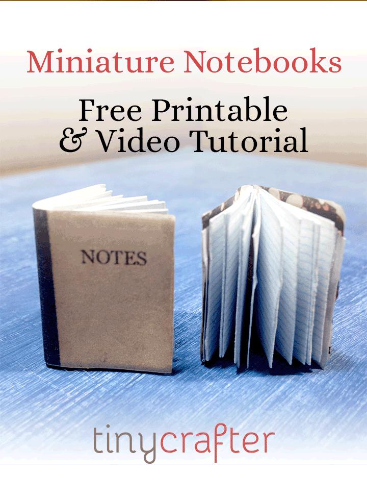 dollhouse miniature notebook tutorial