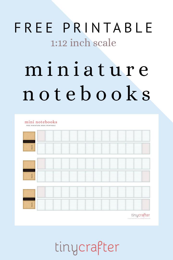 miniature dollhouse notebook diy tutorial free printable