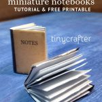 miniature dollhouse notebooks tutorial