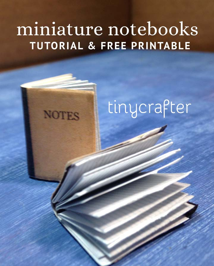 miniature dollhouse notebooks tutorial