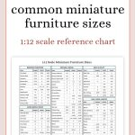 miniature furniture sizes chart