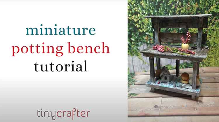 How to Build a Miniature Potting Bench