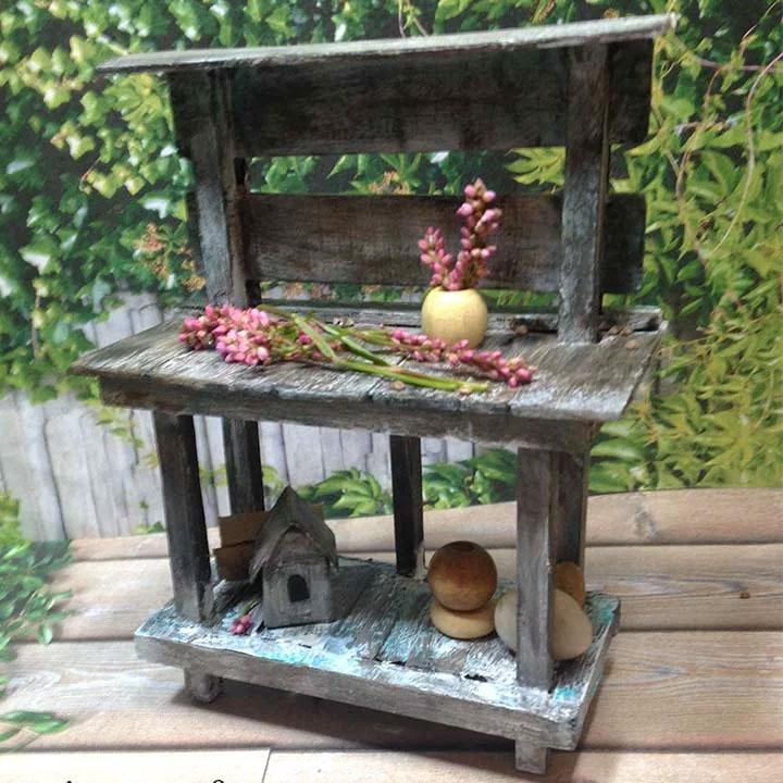 miniature potting bench