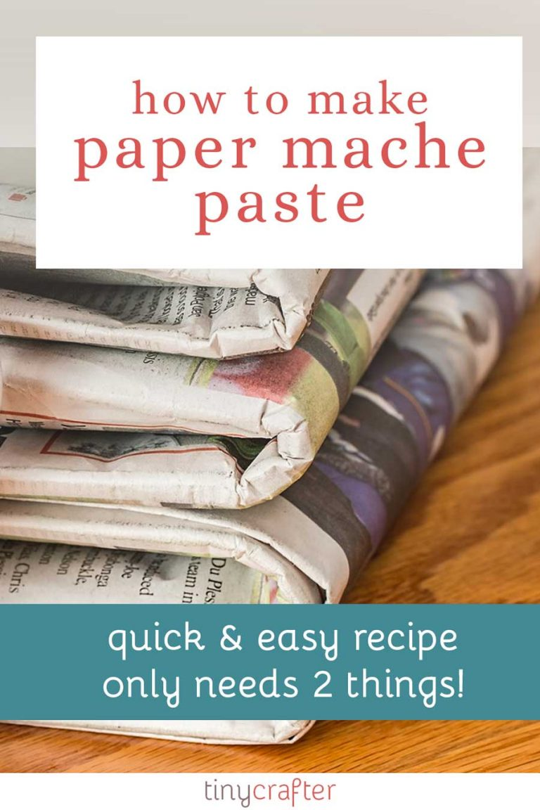 how to make paper mache paste
