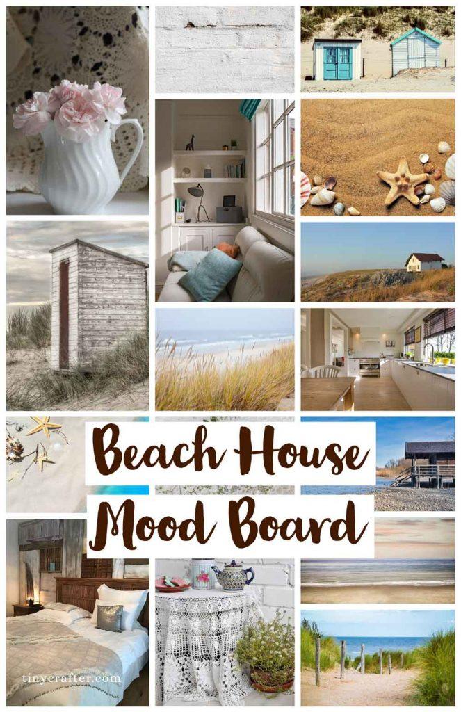 beach house mood board made with Adobe Spark