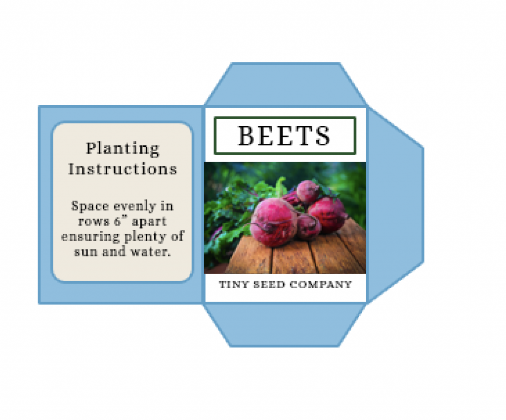 beets seed packet detail