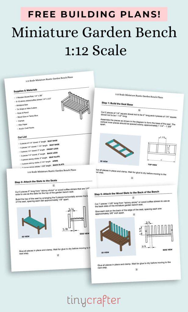 free printable garden bench blueprints