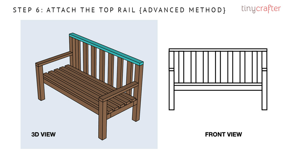 garden bench step 6 advanced method