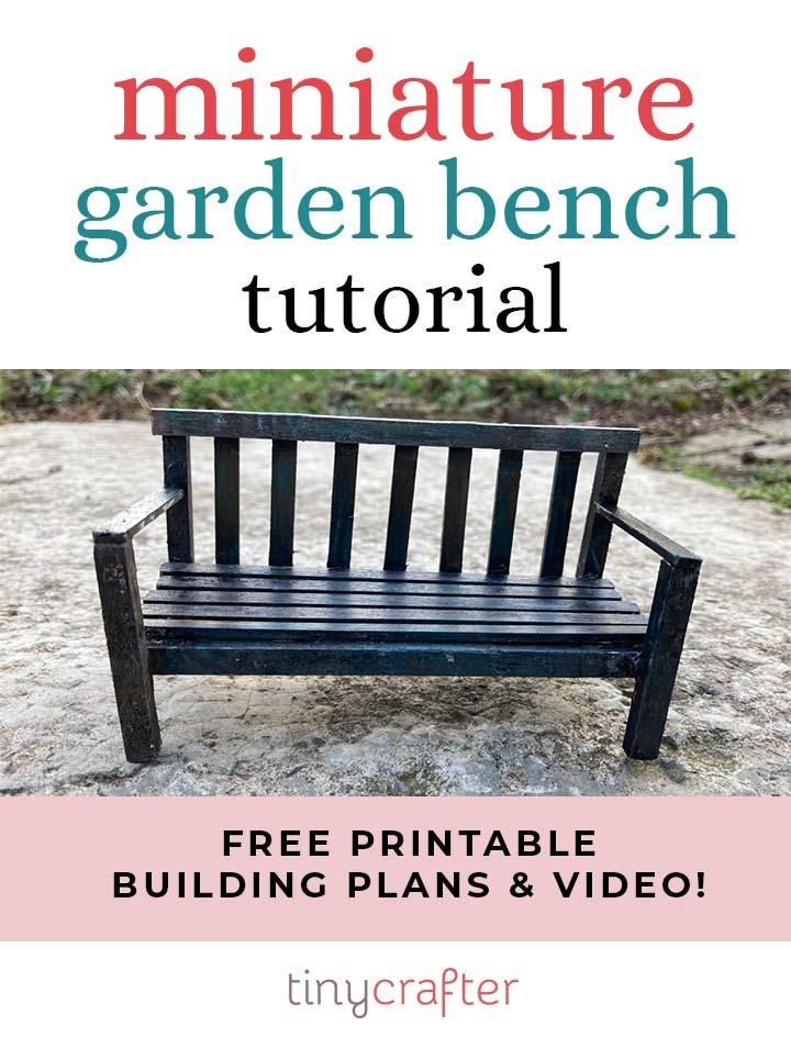 how to build a dollhouse garden bench