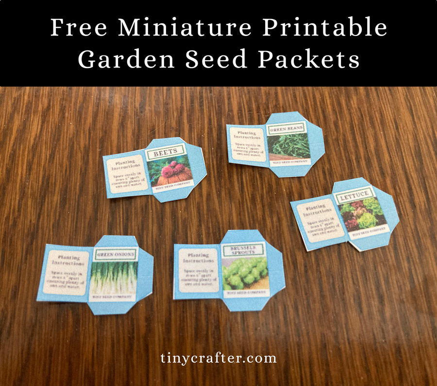 printable garden seed packets