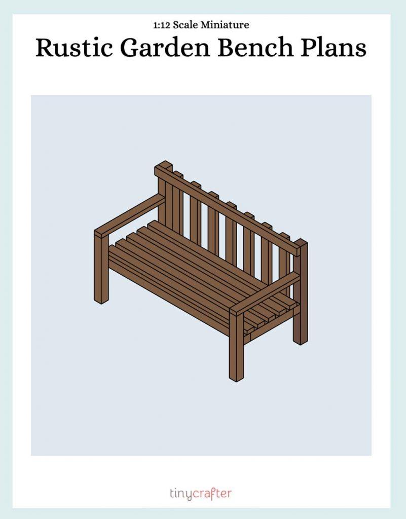 printable miniature garden bench plans