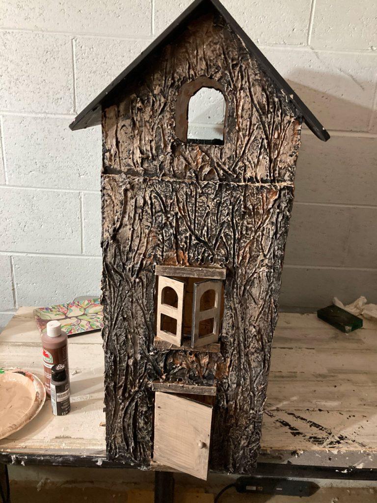 realistic tree bark dollhouse