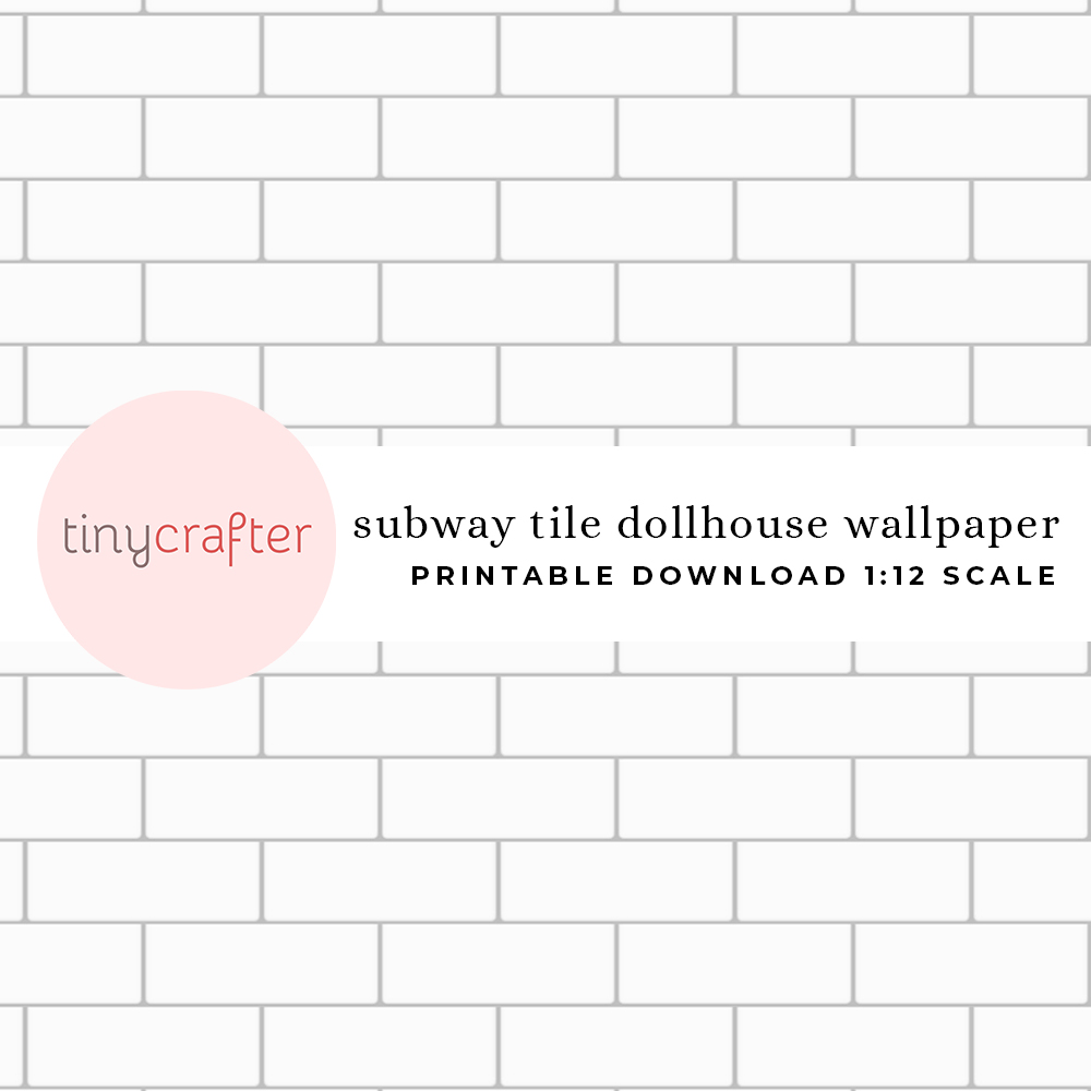 subway tile dollhouse wallpaper preview